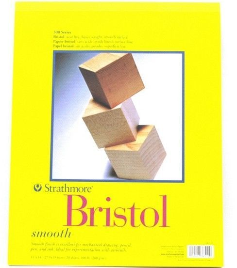"Strathmore Bristol Smooth Paper Pad 11/""x17/""-24 Sheets"