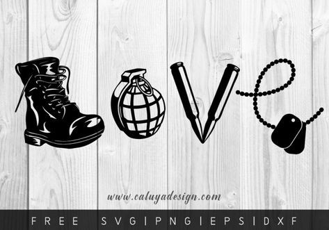 Download FREE LOVE ARMY SVG, PNG, DXF & EPS by | Valentines svg ...
