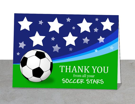 Soccer Coach Gifts Soccer Note Cards Printable Soccer Etsy Soccer Coach Gifts Thank You Cards Printable Cards