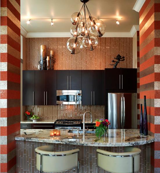 Art Deco Interior Design Kitchen: Definitely Need Multi-piece Light Fixture Like This Art