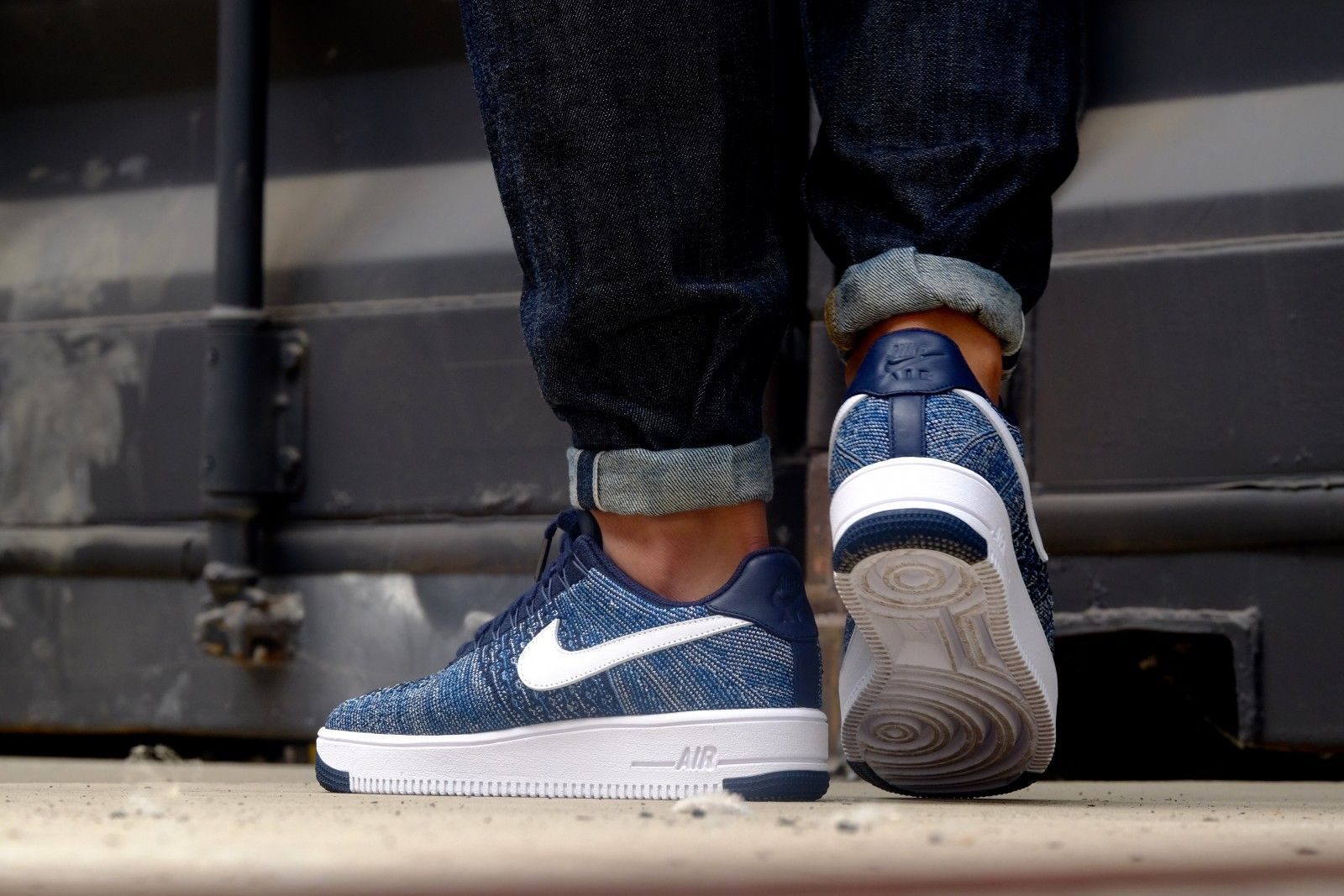 9b0f38eec6e38 Nike Air Force 1 Ultra Flyknit Low Obsidian  White-Star Pure Platinum -  817419