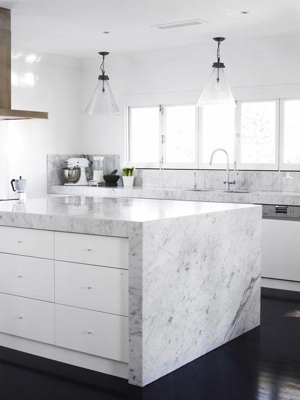 Tendance marbre en cuisine - 2 - | Cocinas, Mármol blanco y Hogar