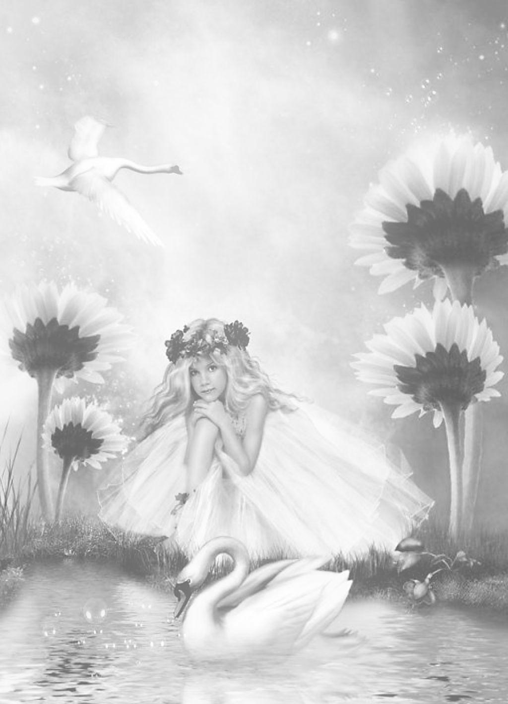 Coloring For Adults En Kleuren Voor Volwassenen Grayscale Coloring Fairy Coloring Pages Grayscale Art [ 1417 x 1024 Pixel ]