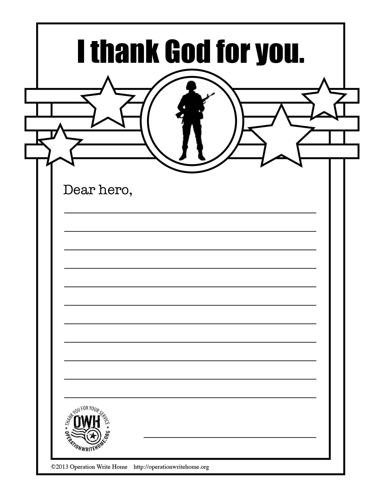 Operation write home thankgodc printables pinterest sunday service project coloring page letter for deployed service members aljukfo Gallery