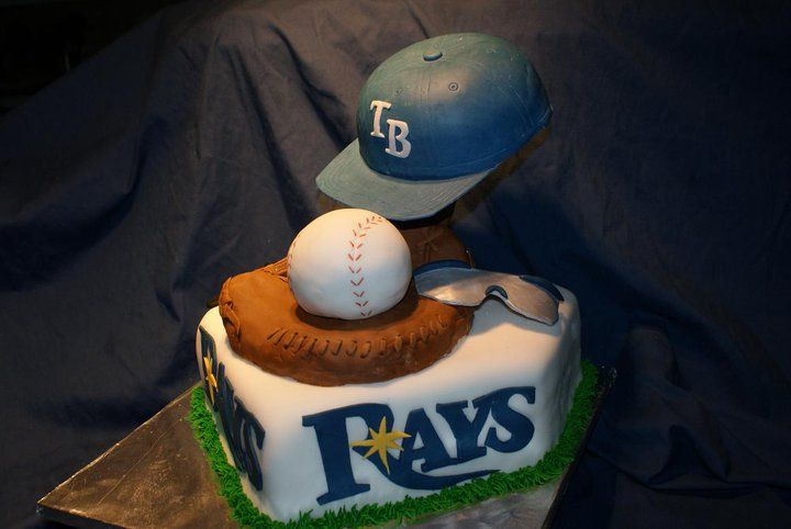 Prime Tampa Bay Rays Themed Birthday Cake Divinedessertstampa Com Funny Birthday Cards Online Elaedamsfinfo