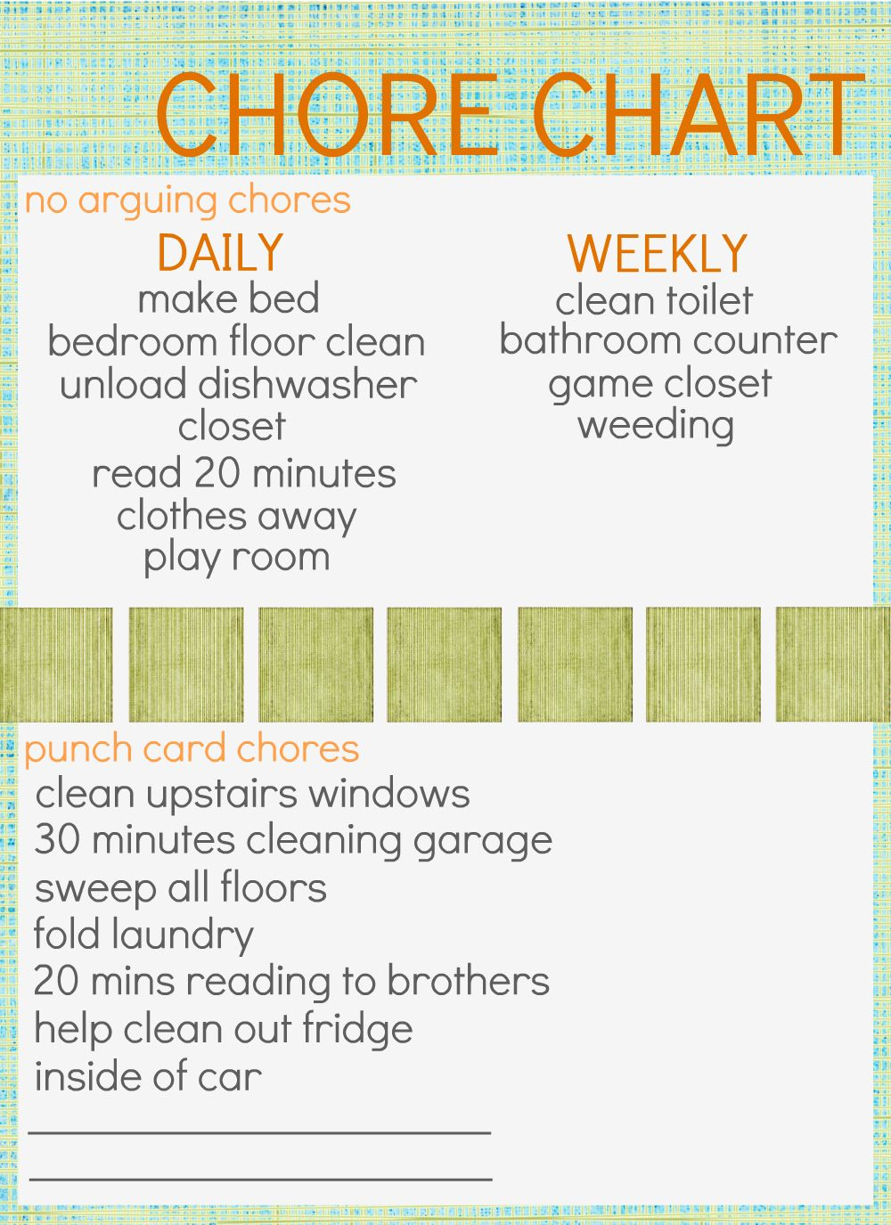 how to make a chore chart for roommates