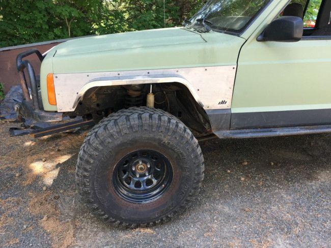Front Steel Fender Armor Flares Jeep Cherokee Xj Fender