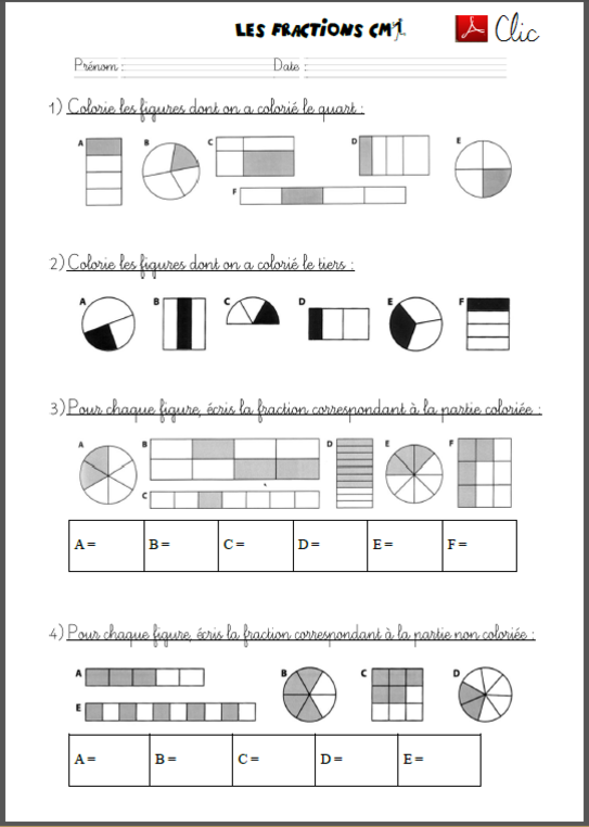 Découvrir les fractions avec les CM1 - Craie hâtive ...
