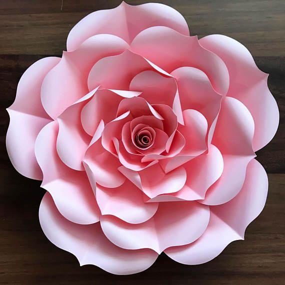 Download Paper Flowers -Paper Flowers - SVG Petal #93 Rose Template ...