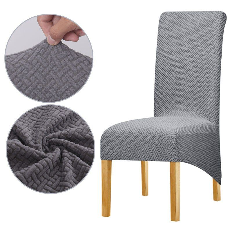 XL Size High Back Chair Cover Polar Fleece Seat Cover for Dinning Hotel Banquet