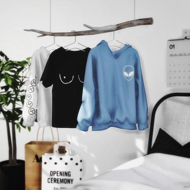 Hanging clothes set recolor novvvas sims 4 sims 4 - Bedroom furniture for hanging clothes ...