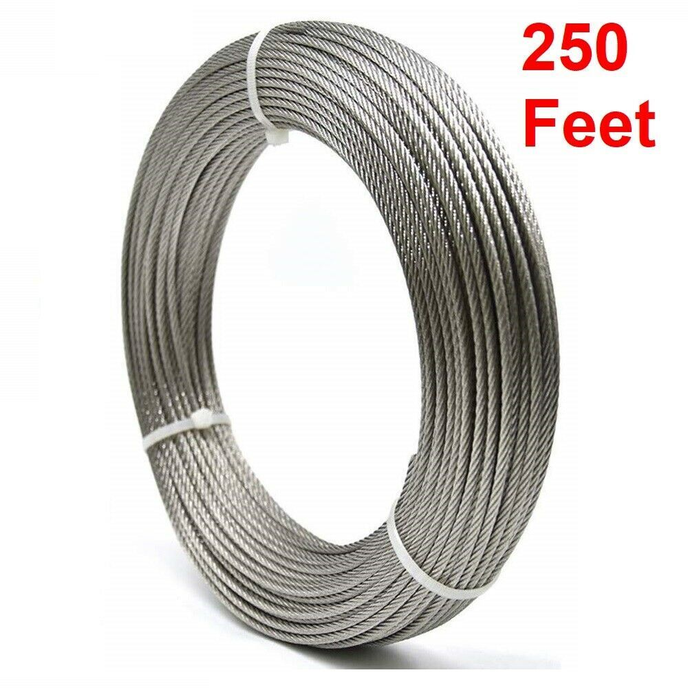 Aircraft Cable Wire Rope Vinyl Coated Steel Aircraft Cable 250 Feet 1 8 3 16 Rzx Cable Wire Things To Sell Vinyl