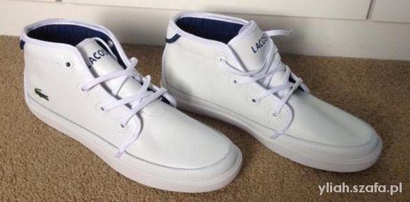 Obuwie Meskie W Szafa Pl Zimowe Modne Obuwie Meskie White Sneaker Shoes Lacoste