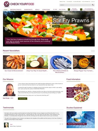 Check Your Food Website coming soon!