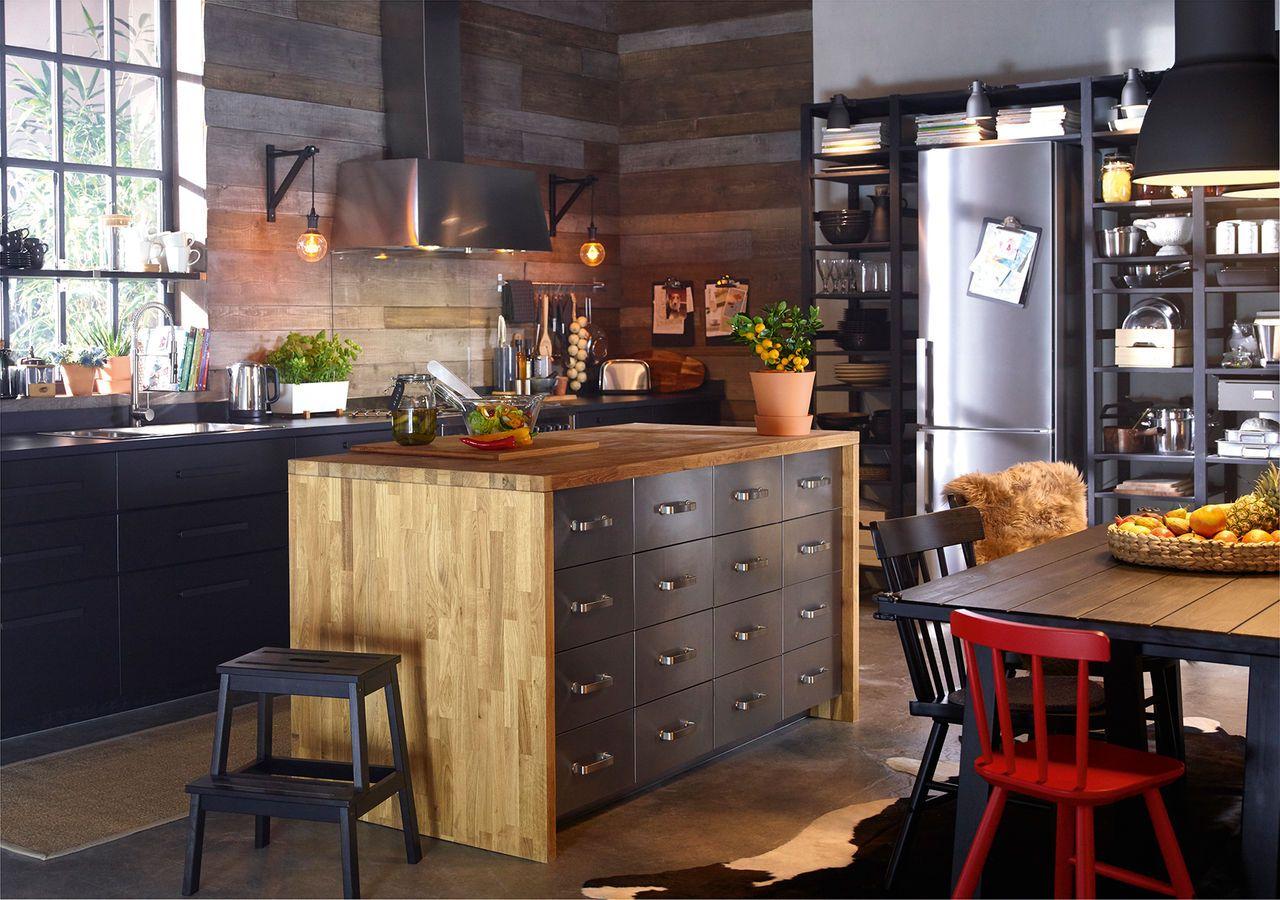 Industrial Kitchen Cabinet Design Kitchen Style Ikea Kitchen