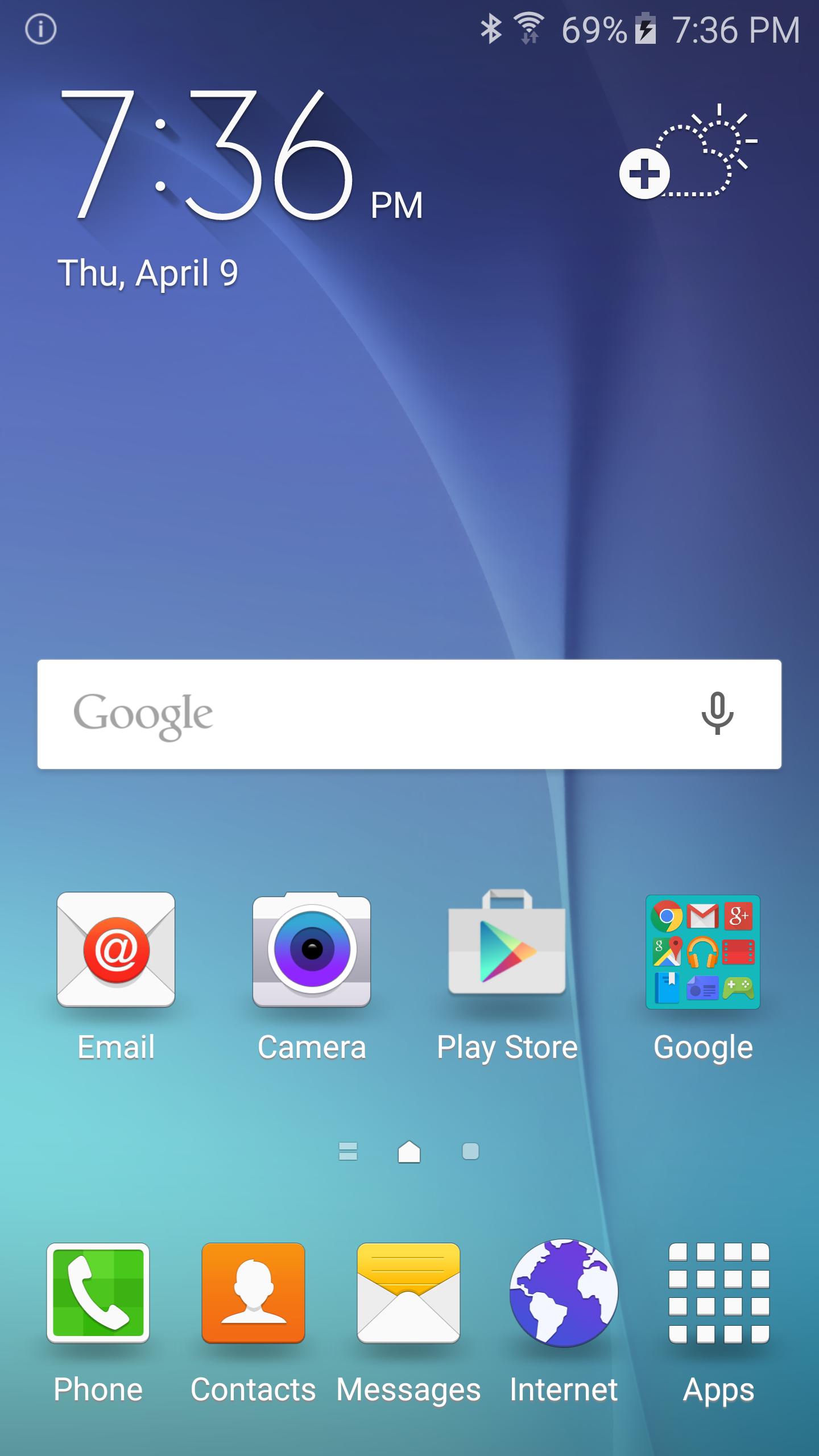 Samsung Galaxy S6 home screen screenshot   Smartphone Screeshots ...