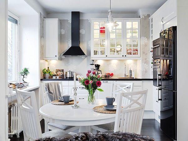 фото кухни белые в интерьере