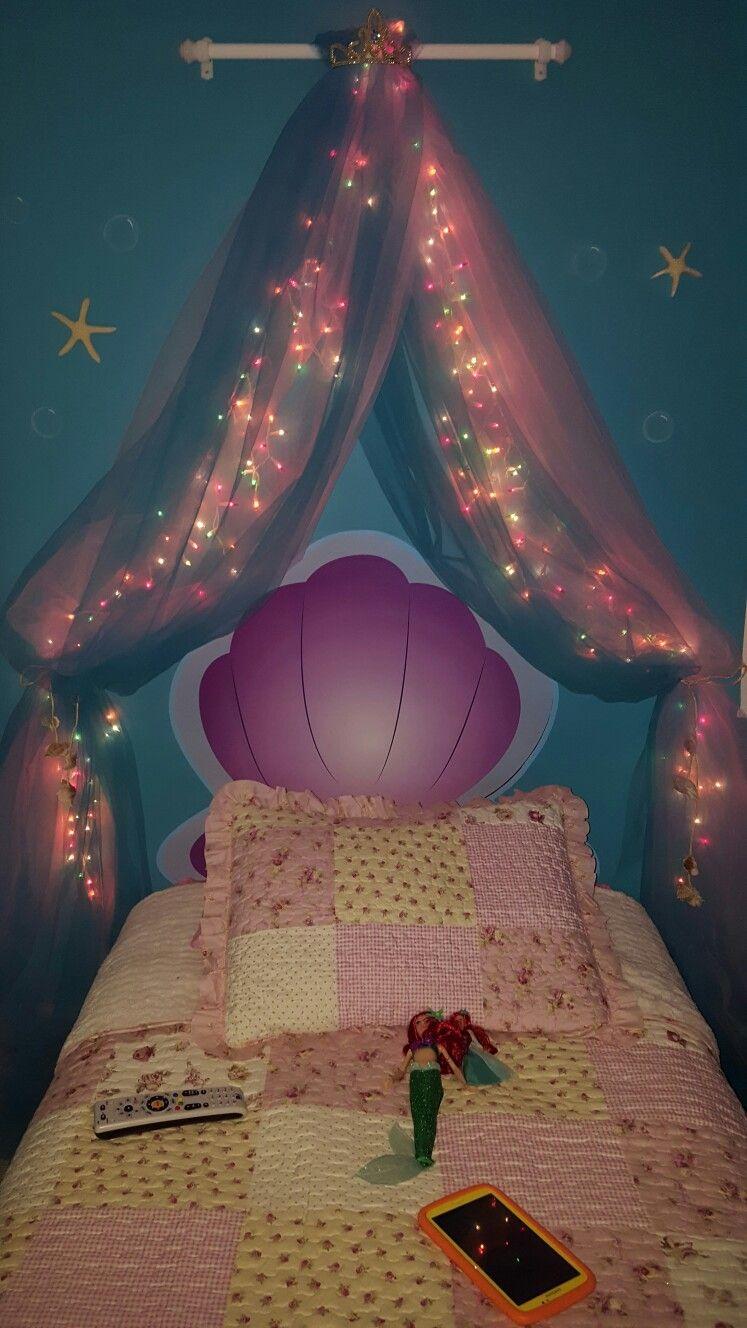 hermosa decoraci n de ariel la sirenita disney cuarto