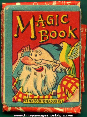 Colorful Old Paper & Glass Novelty Magic Book