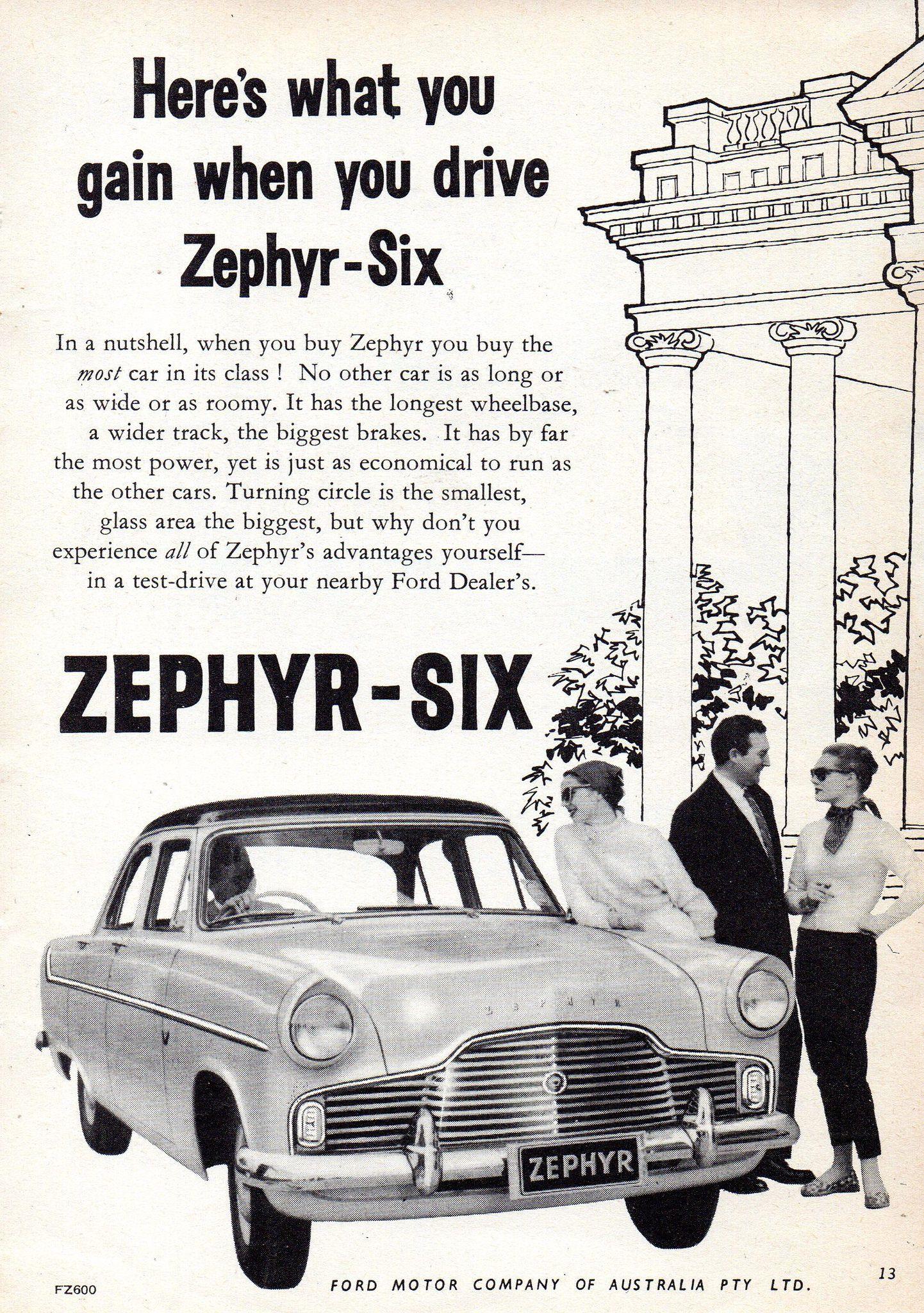 1959 Ford Zephyr Six Mark Ii Aussie Original Magazine