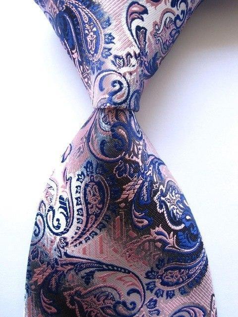 Hot Classic Floral Purple Pink Blue JACQUARD WOVEN 100/% Silk Men/'s Tie Necktie