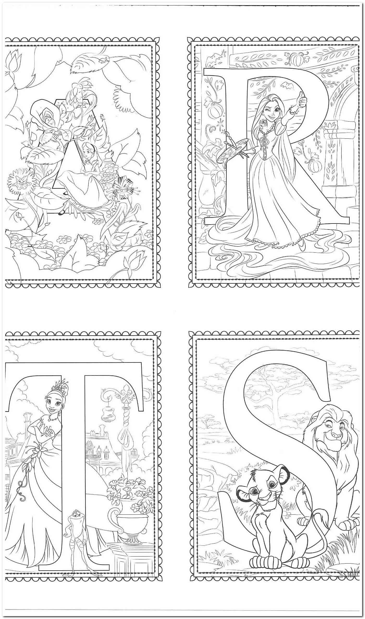 21 Coloring Pages Coloring Pages For Preschoolers In 2020 Disney Alphabet Abc Coloring Pages Alphabet Coloring Pages [ 2379 x 1401 Pixel ]
