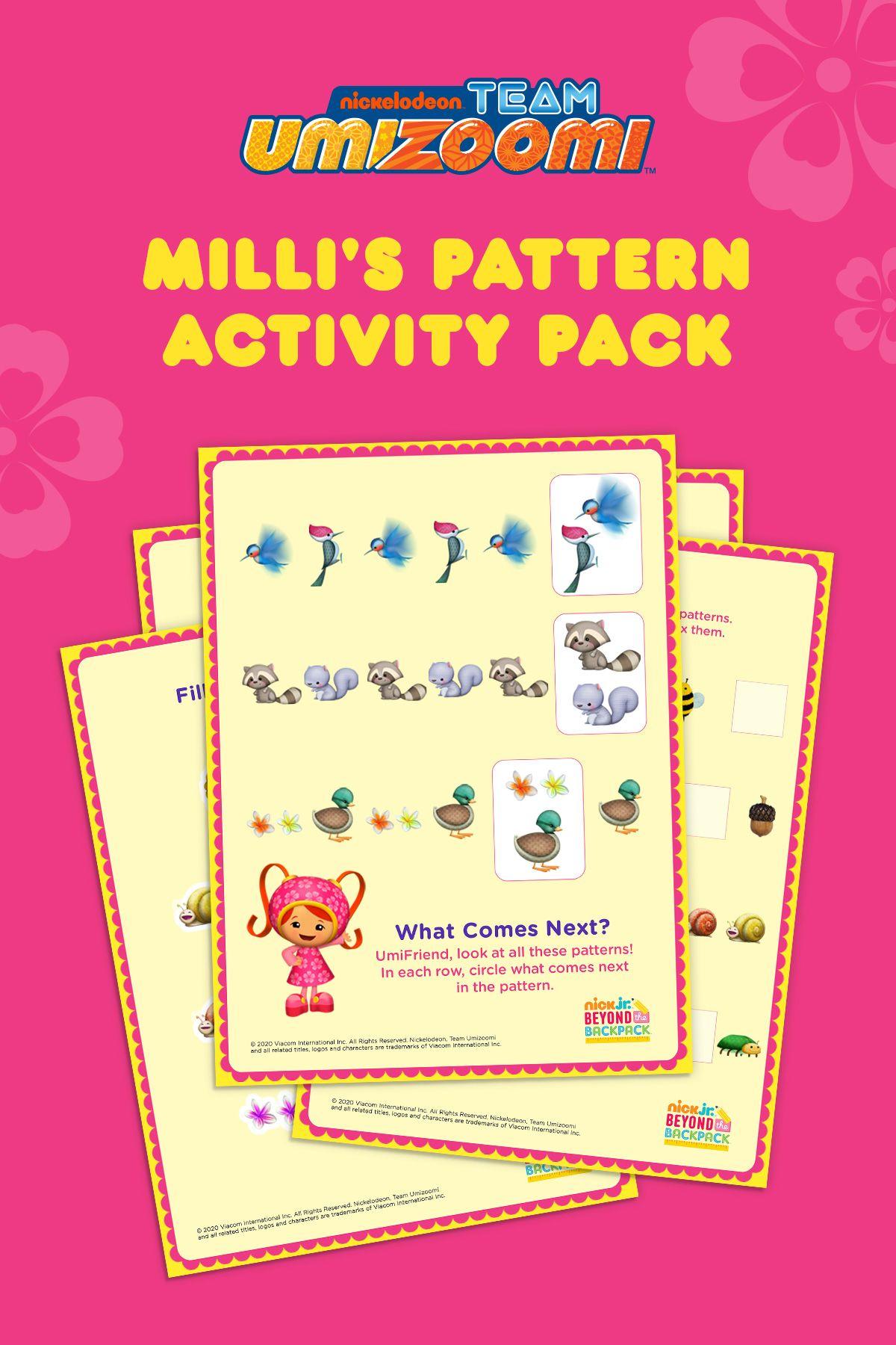 Milli S Printable Patterns Booklet In