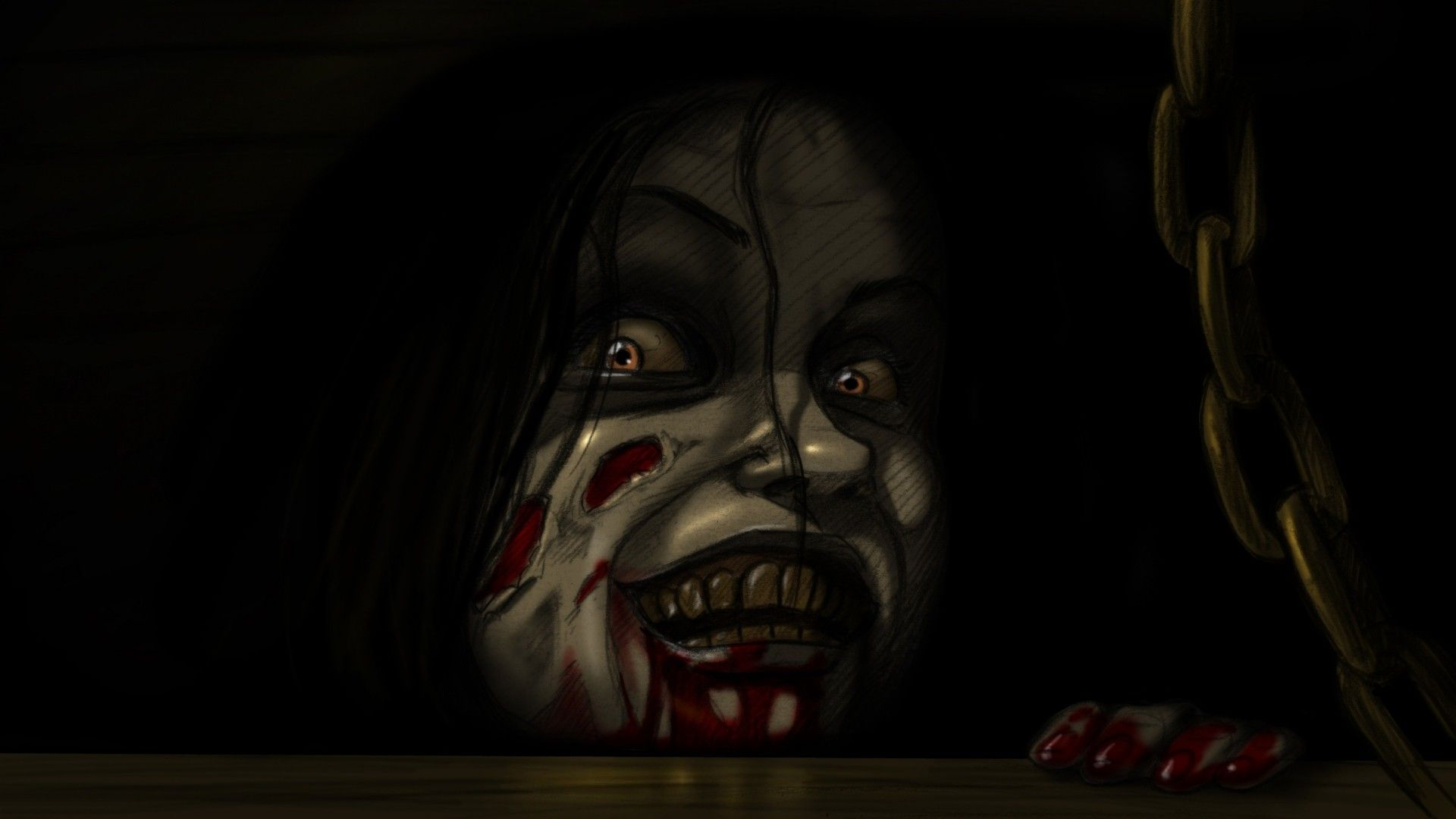 1920x1080 Preview wallpaper the evil dead, horror, mia