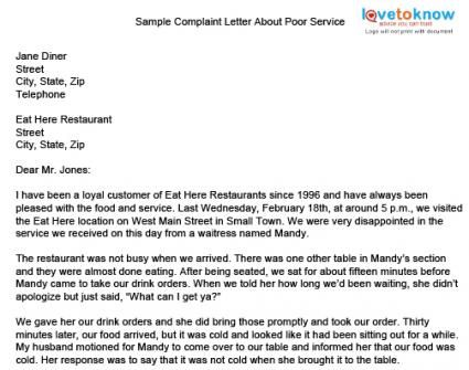 Complaint Letter For Poor Product Service How Write Claim