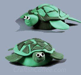 a fun idea for kids how to make a turtle from crayola model magic clay