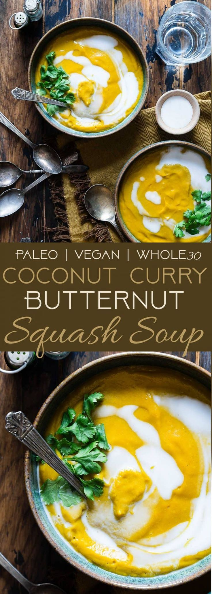 Paleo Vegan Butternut Squash Soup with Curry | Food Faith Fitness #butternutsquashsoup
