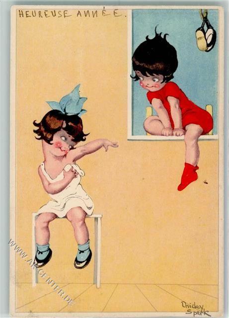 1922 Spark, Ch. Kinder NPG Serie 08040-4 AK: