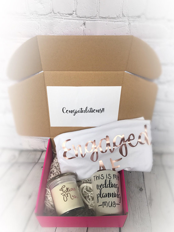 Engagement Gift For Bride Engagement Gift Box Engagement Gift