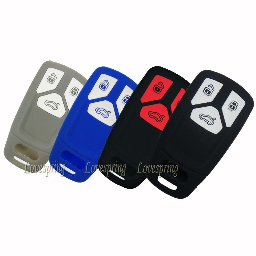 3 Buttons Car Key Fob Remote Cover Key Case Skin Holder Protector