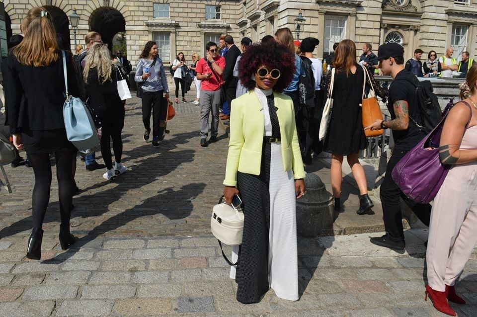 In Pictures : Street Style Looks From London Fashion Week SS15.  London Fashion Week is a five days event held in London. It takes place twice a year in February and September showcasing over 250 designers to a global audience of influential media and retailers. All road led to Somerset house from the 12th -16th of...
