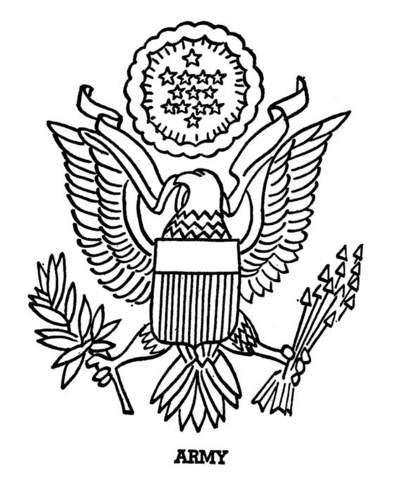 Armed Forces Day Coloring Page Us Army Insigina Projects To Try