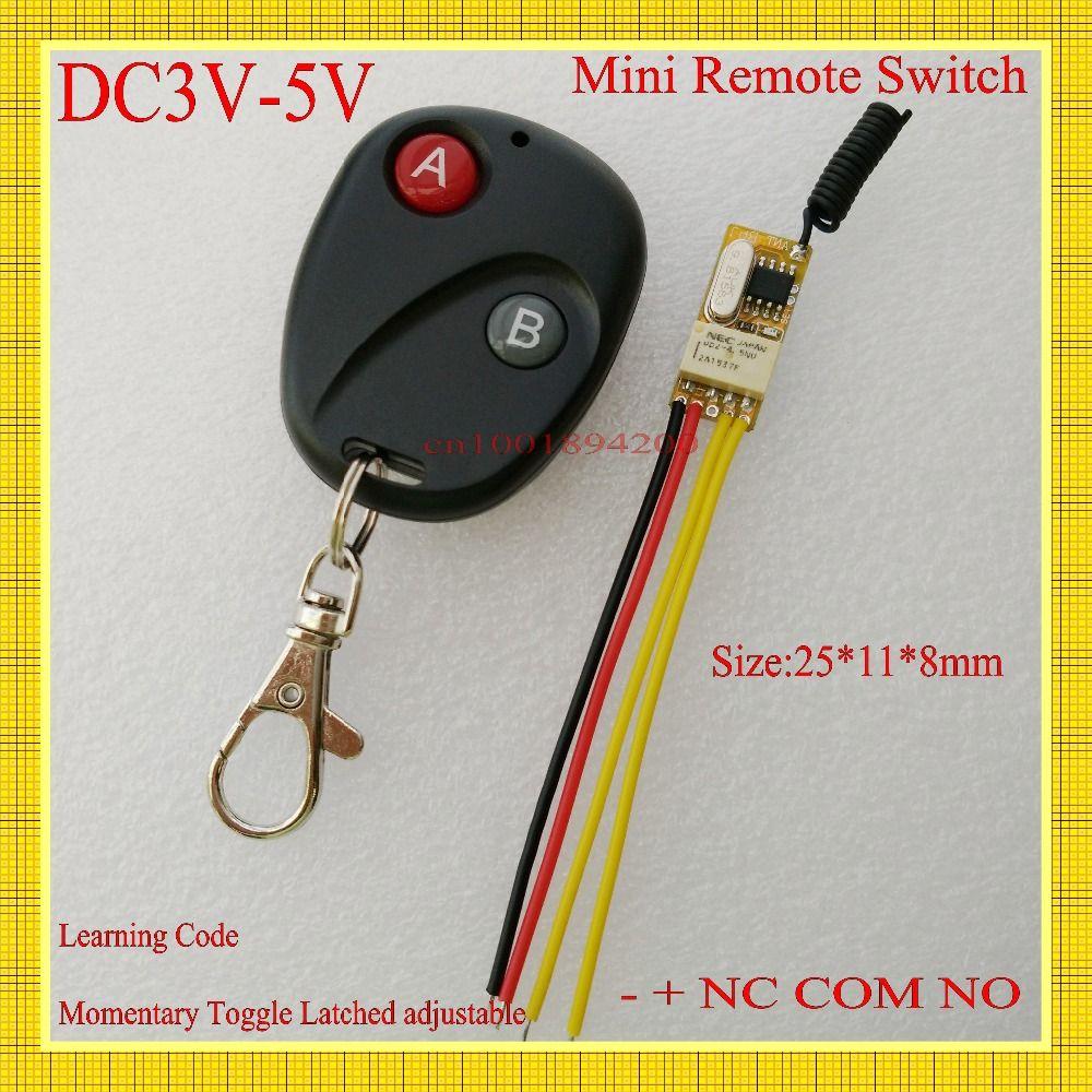 Mini Interruptor De Controle Remoto 3 V 3 3 V 3 6 V 3 7 V 4 5 V 5 V Micro Sem Fio Interruptor Do Rele Nao Com Nc Pequeno Rel Wireless Switch Remote Transmitter