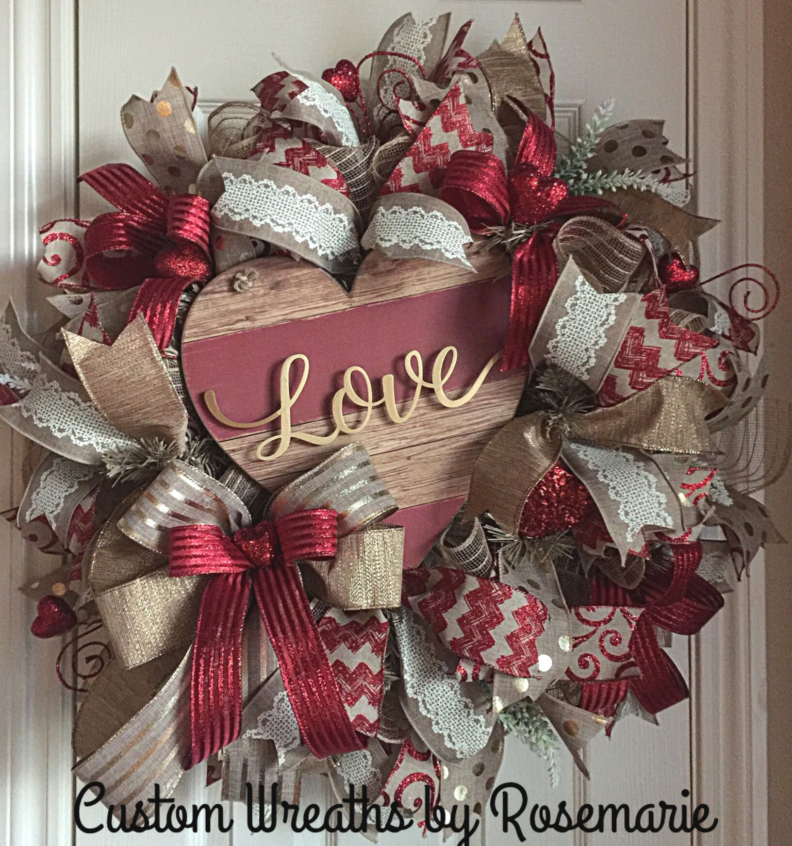 valentine's day wreath | valentine ideas | pinterest | wreaths