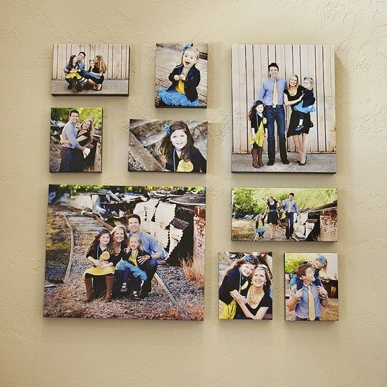 Canvas collage home-creative-photo-displays House ideas