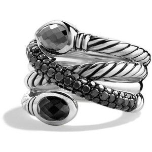 David Yurman Renaissance Ring with Hematine, Black Onyx, and Black Diamonds