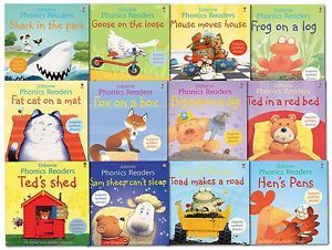 Usborne Phonics Readers Collection 12 Books