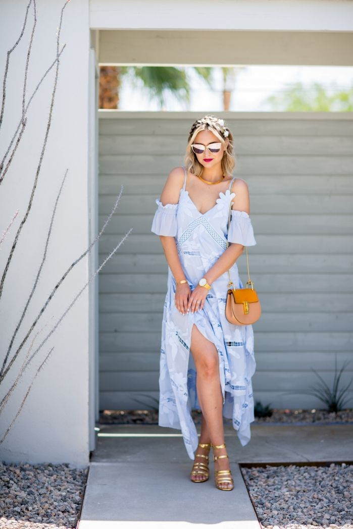 7b2c6d2224f Summer feels with this maxi dress and gladiator sandals outfit from Late  Afternoon blog. We are loving her boho feminine style