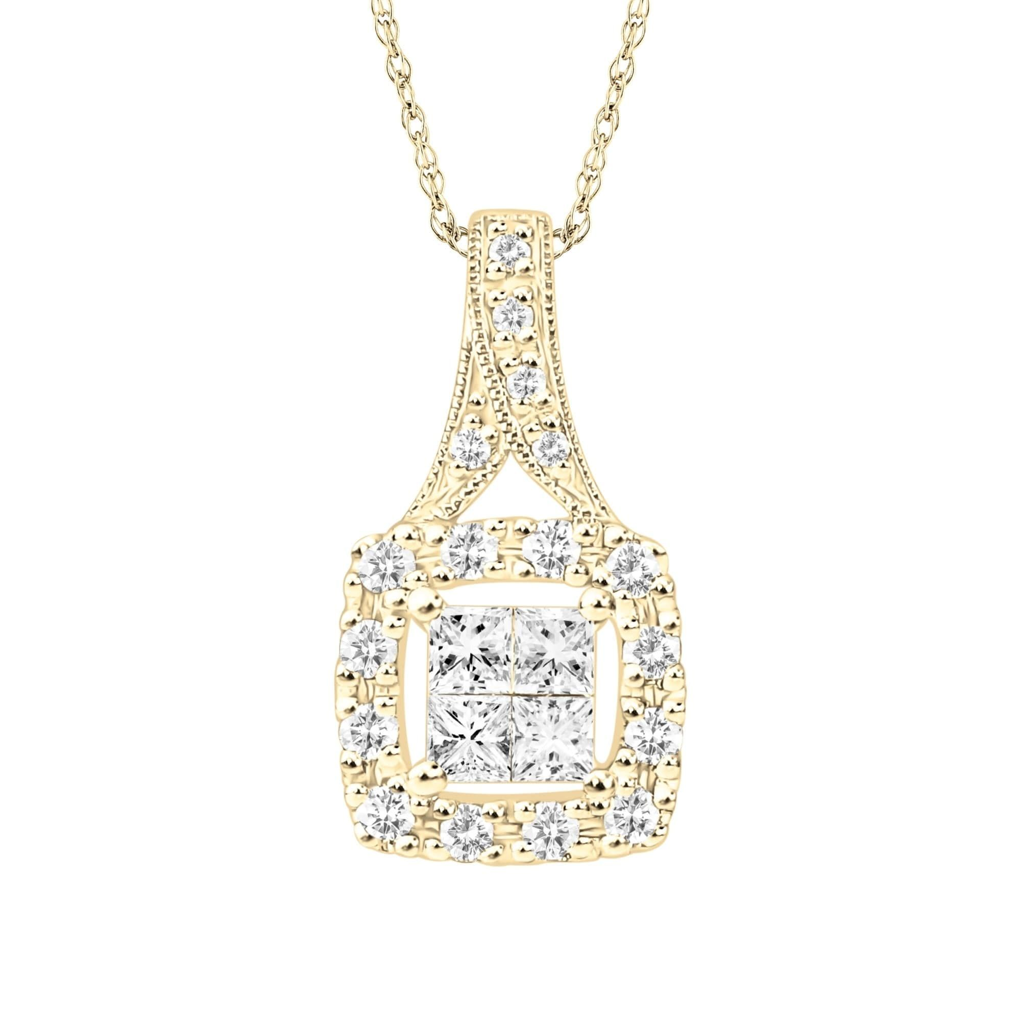 tdw pin white diamond gold miadora by initial necklace