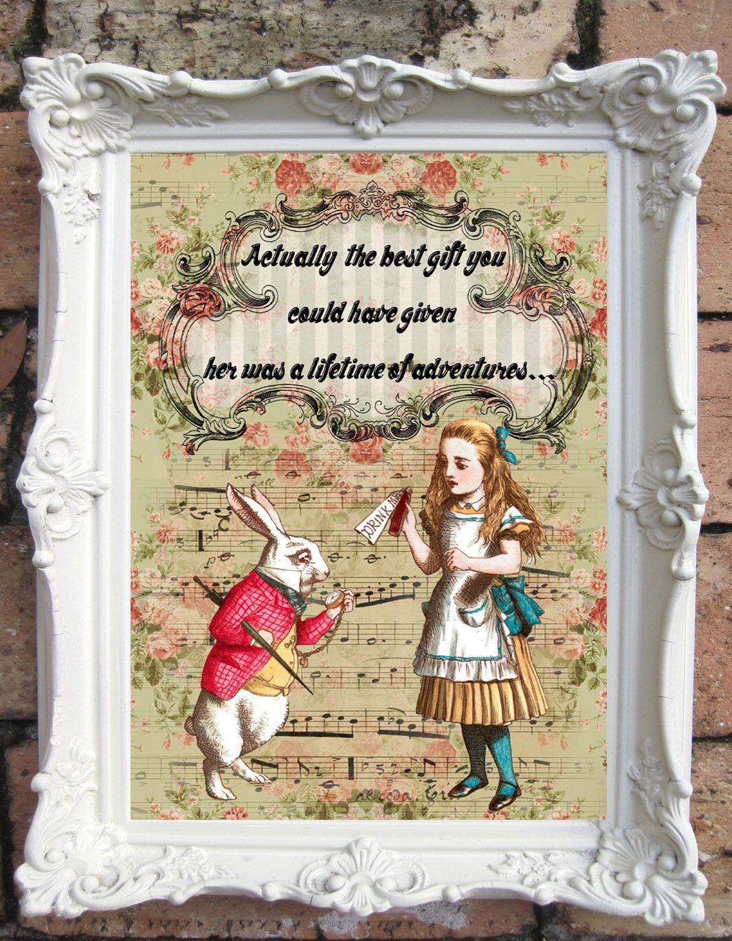 Alice In Wonderland Decor Shabby Chic Decor Alice In