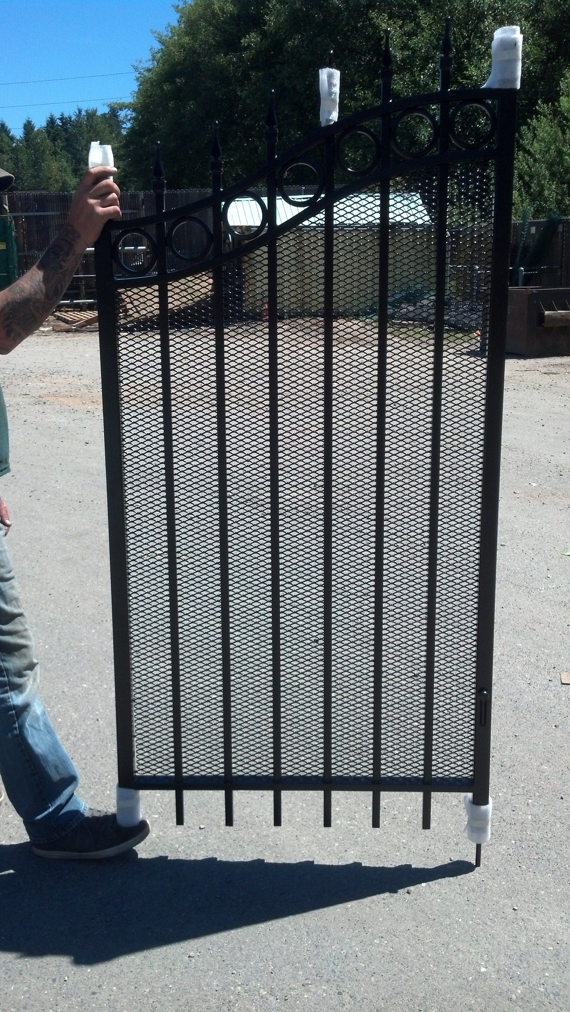 Ornamental Iron Gate With Expanded Metal Ornamental