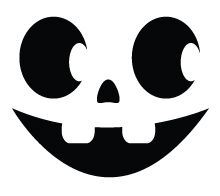 photograph relating to Printable Pumpkin Face known as Halloween Pumpkin Carving Template: Smiley Experience Halloween