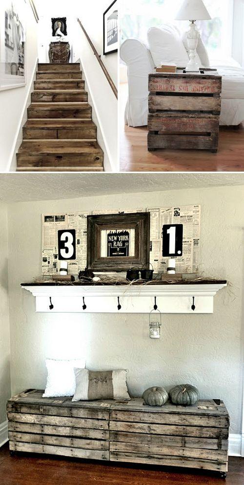 ideas de decoraci n con palets id es d co avec des. Black Bedroom Furniture Sets. Home Design Ideas
