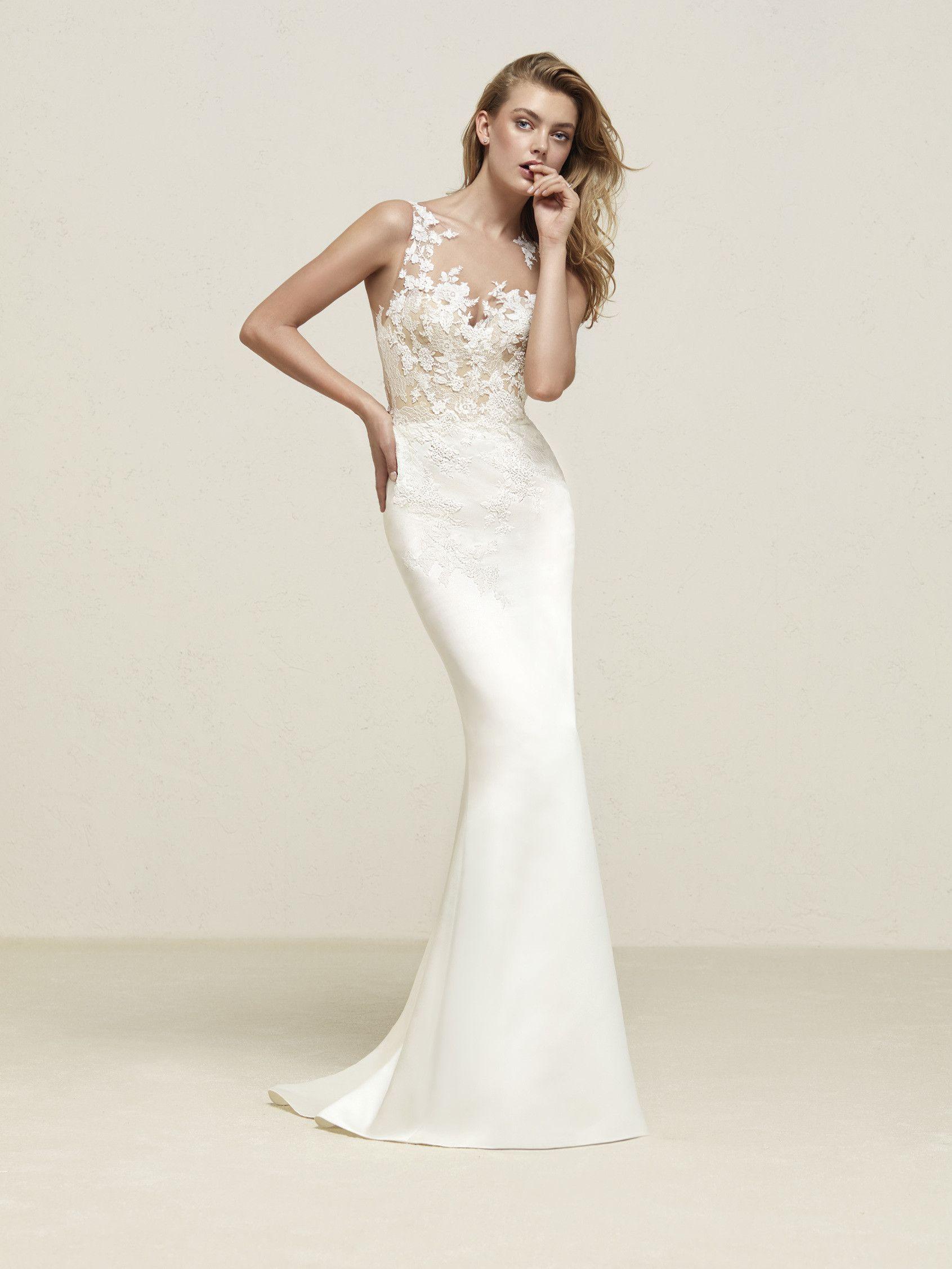 Vestido de novia cuerpo ilusión  485cde9a4b04