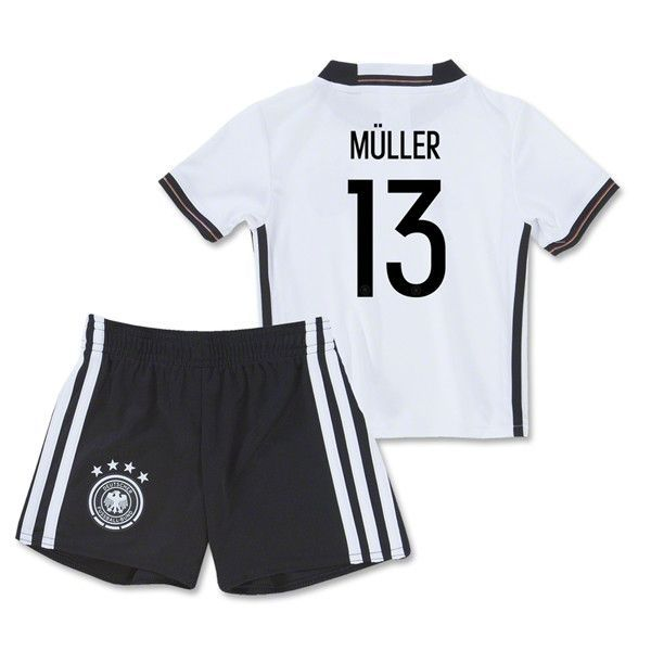 3ac48a37833 Germany Euro 2016/17 Home (Youth Kids Infant Baby ) Kit MULLER #13 ...