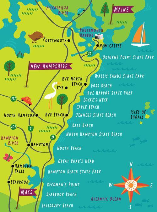 map of north hampshire Portfolio Illustrated Map New Hampshire Map map of north hampshire